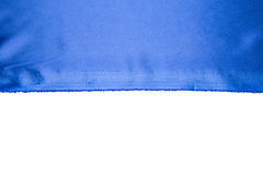 Some soft blue silk cloth. Royalty Free Stock Photos