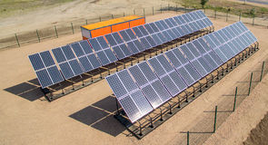 Some solar panels. Newly installed solar panels for power generation Stock Photography