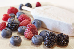 Some sort of. Berries: blueberries, blackberries, raspberries Stock Photos