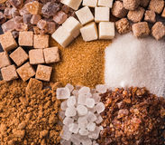Some sorts of sugar Stock Image