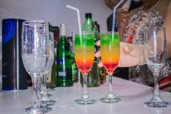 Special drink for the party. Some special drink made in Peru for special party royalty free stock photo
