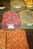 Some spices on display. Spices on display at a market in Istanbul-Turkiye Stock Photo