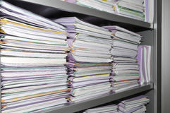 Some stacks of paper folders Stock Image