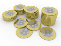 Some bitcoins Stock Images