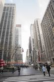 People in the big city o New York. Some states of the Newyokers, and some building view from a tourist Royalty Free Stock Photos