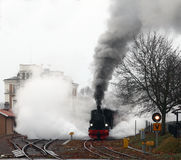 Some steam by the locomotive Stock Photography