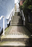 Steps leading to main street Royalty Free Stock Image