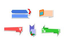 Some stickers christmas Stock Photo