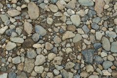 Some stones on a path. Path with stones in the Langhe Royalty Free Stock Images
