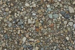 Some stones on a path. Path with stones in the Langhe Stock Image