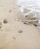 Some stones on the seashore Stock Photos