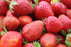 Some of strawberries. Fresh, juicy and healthy strawberries Stock Photo
