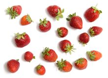 Some strawberry. Isolated on white Stock Photography