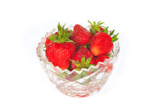 The some strawberry in the vase. The some fresh sweet red strawberry in the vase Stock Images