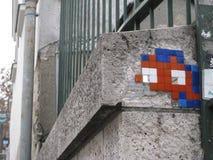 Some street art near the Sacré-Cœur, Paris royalty free stock photo