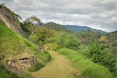 Some of the structures of Tonina archaeological site in Chiapas, Mexico royalty free stock photo