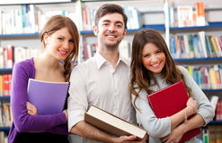 Students in a library Royalty Free Stock Images