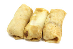 Some stuffed pancakes Stock Images