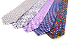 Some stylish silk male tie ( necktie ) on white. Stock Photography