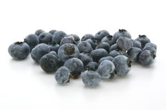 Some sweet organic blueberries. And white background Royalty Free Stock Photos