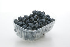 Some sweet organic blueberries. In a plastic container Royalty Free Stock Images
