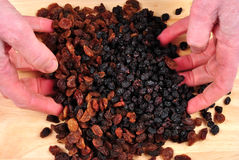 Some sweet raisins for home baking. Prepare some sweet raisins for home baking royalty free stock images