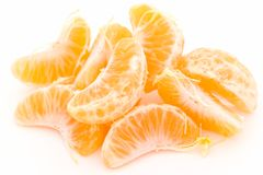 Some tangerine segments Royalty Free Stock Image