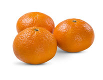 Some tangerines in a basket over a white background. Royalty Free Stock Photos