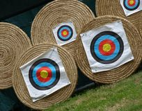 Some targets. For archers in a sport show Stock Photo