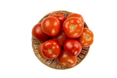 Some tomatoes over a white background. Fresh vegetable stock photography