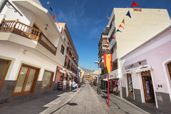 Some tourist are walking in Candelaria, Tenerife, Spain. Royalty Free Stock Photography