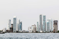 Some towers. Buildings zone in the coast of Cartagena, Colombia Stock Photo