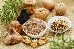 Some traditional christmas portuguese (Europe) cakes. Some traditional christmas portuguese (Europe)cakes with figs, nuts and eggs royalty free stock images