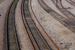 Some train tracks Stock Photos