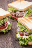 Some Tuna Sandwiches Royalty Free Stock Photo