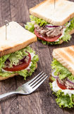 Some Tuna Sandwiches Stock Photography