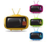Some TV sets animation vector Royalty Free Stock Images