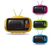 Some TV sets animation vector Stock Image
