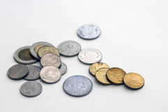 Some various coins Royalty Free Stock Images