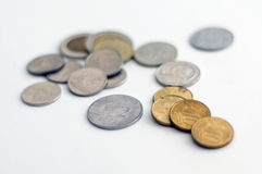 Some various coins Royalty Free Stock Image