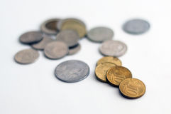 Some various coins Royalty Free Stock Photography