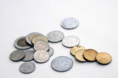 Some various coins Royalty Free Stock Photos