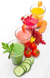 Some various Freshly Vegetable Juices. A various Freshly Vegetable Juices Stock Images