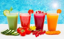 Various Freshly Vegetable Juices. Some various Freshly Vegetable Juices Royalty Free Stock Images