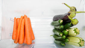 Some vegetables in the fridge Royalty Free Stock Images