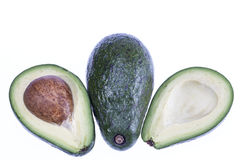 Some vegetebles of avocado  on white background.  Stock Image