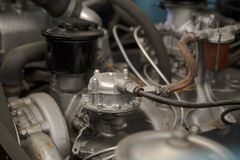 Some vehicle engine with its mechanical parts Stock Photos