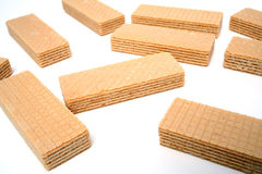 Some wafers with a vanilla cream Stock Photography