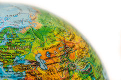 Some Ware on World Map Royalty Free Stock Photography