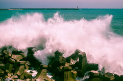 Some waves. In Hualien, Taiwan Royalty Free Stock Images